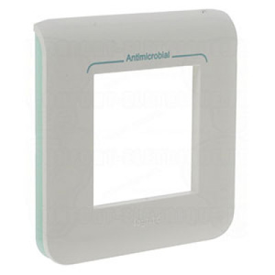 LEGRAND 078722 Рамка M45, 2М, антибактериальная, Mosaic