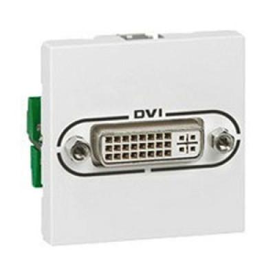 LEGRAND 078771 Модуль розетки аудио DVI-I, 2М, белый, Mosaic
