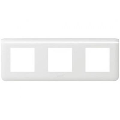 LEGRAND 078806 Декоративная рамка M45, 3Х2М, горизонтальная установка, белая, Mosaic