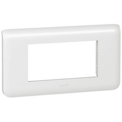 LEGRAND 078814 Декоративная рамка M45, 4М, горизонтальная установка, белая, Mosaic