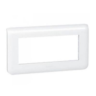 LEGRAND 078815 Декоративная рамка M45, 5М, горизонтальная установка, белая, Mosaic