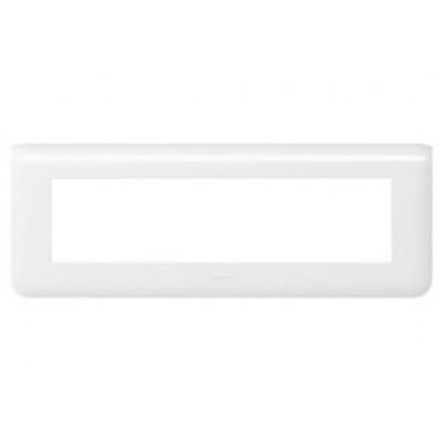 LEGRAND 078818 Декоративная рамка M45, 8М, горизонтальная установка, белая, Mosaic