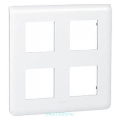 LEGRAND 078838 Декоративная рамка M45, 2Х2Х2М, белая, Mosaic