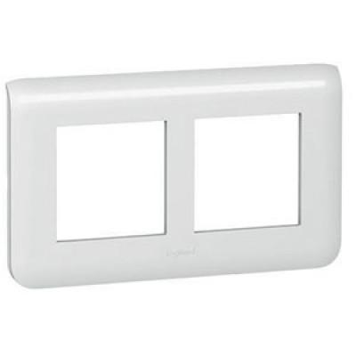 LEGRAND 078864 Декоративная рамка M45, 2Х2М, горизонтальная установка, белая, Mosaic Rеnovation