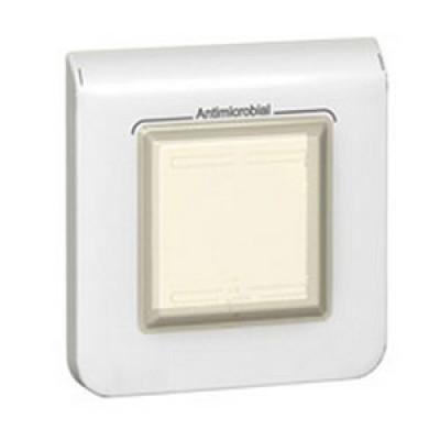 LEGRAND 078880 Декоративная рамка M45, 2М, антибактериальная, IP44, белая, Mosaic