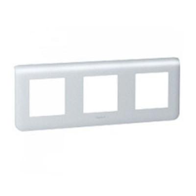 LEGRAND 079006 Декоративная рамка M45, 3Х2М, горизонтальная установка, алюминиевая, Mosaic