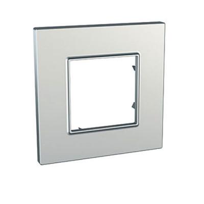 LEGRAND 079011 Декоративная рамка M45, 1М, горизонтальная установка, алюминиевая, Mosaic