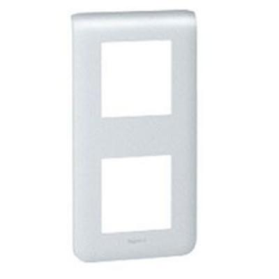 LEGRAND 079022 Декоративная рамка M45, 2Х2М, вертикальная установка, алюминиевая, Mosaic