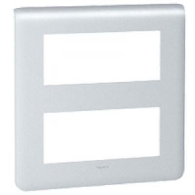 LEGRAND 079030 Декоративная рамка M45, 2Х5М, алюминиевая, Mosaic
