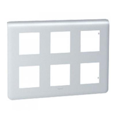 LEGRAND 079032 Декоративная рамка M45, 2Х3Х2М, алюминиевая, Mosaic