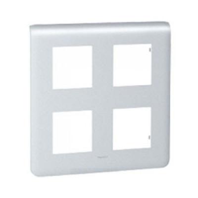 LEGRAND 079038 Декоративная рамка M45, 2Х2Х2М, алюминиевая, Mosaic