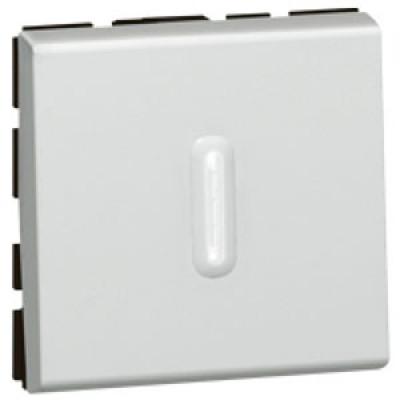 LEGRAND 079212 Переключатель 2-х позиционный, 2М, с подсветкой, алюминиевый, Mosaic