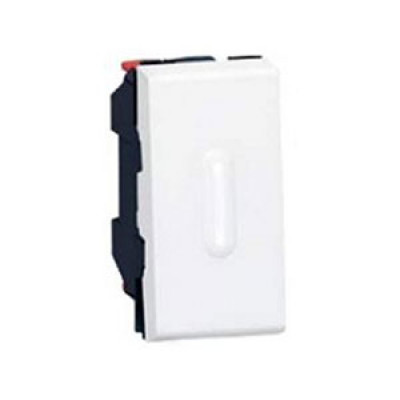LEGRAND 079232 Выключатель кнопочный, 1M, 6А, с подсветкой, алюминиевый, Mosaic