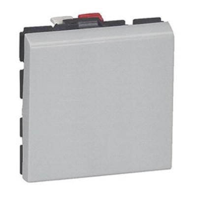 LEGRAND 079240 Выключатель кнопочный, 2М, 6А, алюминиевый, Mosaic