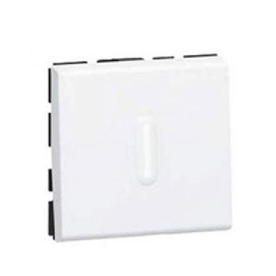 LEGRAND 079242 Выключатель кнопочный, 2M, 6А, с подсветкой, алюминиевый, Mosaic