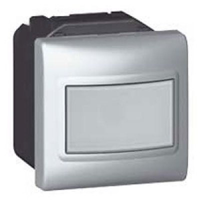LEGRAND 079251 Датчик движения, 2М, 1000 Вт, с нейтралью, алюминиевый, Mosaic