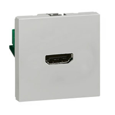 LEGRAND 079275 Модуль розетки HDMI, алюминиевый, Mosaic