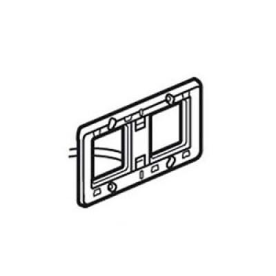 LEGRAND 080258 Суппорт для механизмов с подсветкой, горизонтальный, 4М, Mosaic