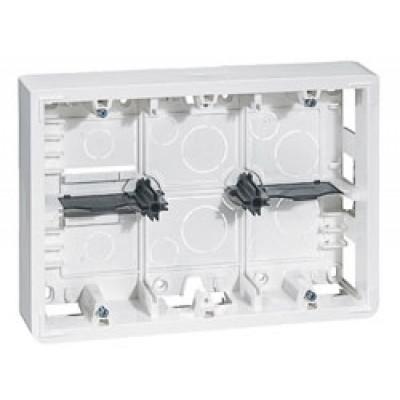 LEGRAND 080276 Коробка для накладного монтажа, 2Х6/8М, высота 50 мм, Mosaic