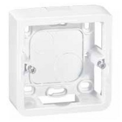 LEGRAND 080280 Коробка для накладного монтажа, 2М, глуб 30 мм, белая, Mosaic (применяется с L/80251)