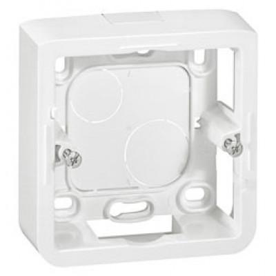LEGRAND 080281 Коробка для накладного монтажа, 2М, глуб 40 мм, белая, Mosaic (применяется с L/80251)