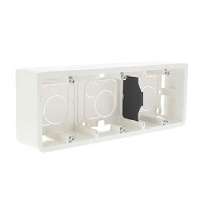 LEGRAND 080283 монтажа, вертик, 6М (Коробка для накладного  3х2М), глубина 40 мм, белая, Mosaic