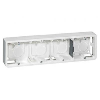 LEGRAND 080284 Коробка для накладного монтажа, горизонтальная, 10М, глубина 40 мм, белая, Mosaic
