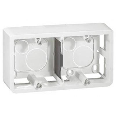 LEGRAND 080285 Коробка для накладного монтажа, горизонтальная, 4М/5М, глубина 40 мм, белая, Mosaic