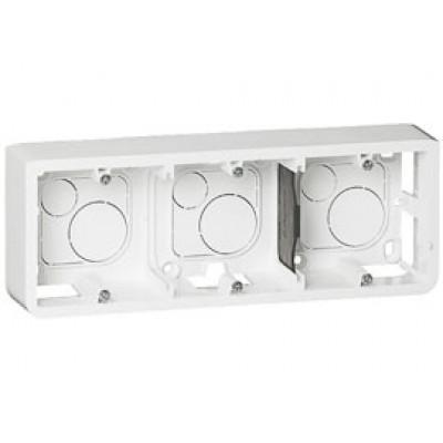 LEGRAND 080286 Коробка для накладного монтажа, горизонтальная, 6М/8М, глубина 40 мм, белая, Mosaic