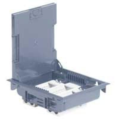 LEGRAND 089605 Напольная коробка на 12 модулей с крышкой из стали с антикорозийным покрытием