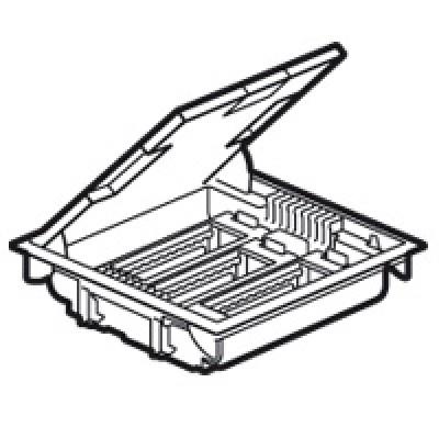 LEGRAND 089610 Напольная коробка на 18 модулей с крышкой из стали с антикорозийным покрытием