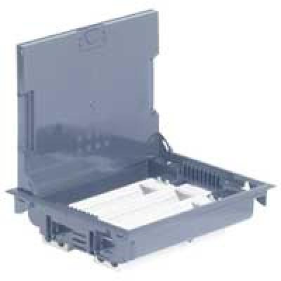 LEGRAND 089616 Напольная коробка на 24 модуля с крышкой под ковровое покрытие (с рег.глуб 75-105мм)
