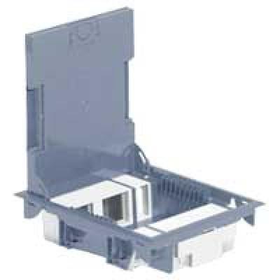 LEGRAND 089621 Напольная коробка на 10 модулей с крышкой под ковровое покрытие (с рег.глуб 65мм)