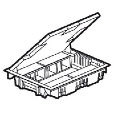 LEGRAND 089625 Напольная коробка с регулируемой глубиной 65мм, 16 модулей, серая