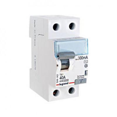 LEGRAND 403039 (602143) Дифференциальный выключатель, серия TX3, 40A, 300mA, 2-полюсный, тип АС