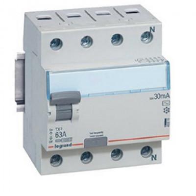 LEGRAND 403043 Дифференциальный выключатель, серия TX3, 40A, 300mA, 4-полюсный, тип АС