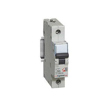 LEGRAND 403857 Автоматический выключатель, серия TX3, B6A, 1-полюсный