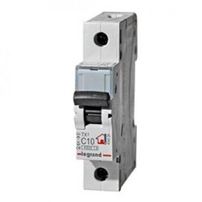 LEGRAND 404026 (604803) Автоматический выключатель, серия TX3, С10A, 1-полюсный