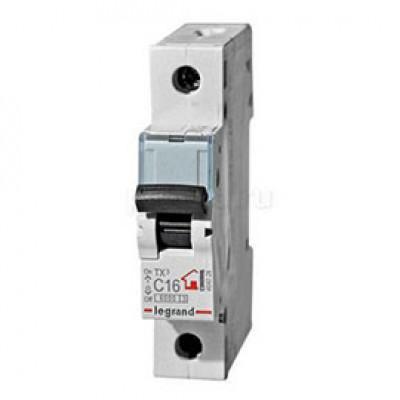LEGRAND 404028 (604805) Автоматический выключатель, серия TX3, С16A, 1-полюсный