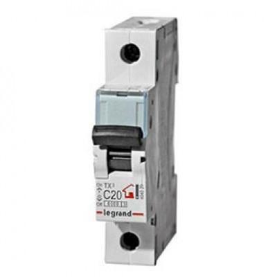 LEGRAND 404029 (604806) Автоматический выключатель, серия TX3, С20A, 1-полюсный