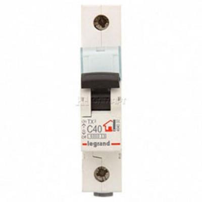 LEGRAND 404032 (604809) Автоматический выключатель, серия TX3, С40A, 1-полюсный