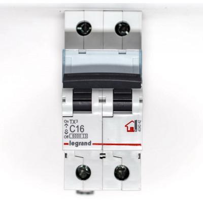 LEGRAND 404042 (604820) Автоматический выключатель, серия TX3, С16A, 2-полюсный
