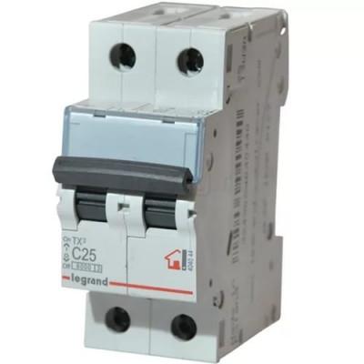 LEGRAND 404044 (604822) Автоматический выключатель, серия TX3, С25A, 2-полюсный