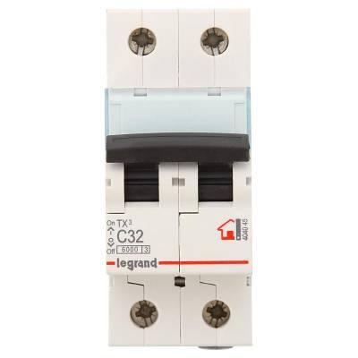 LEGRAND 404045 (604823) Автоматический выключатель, серия TX3, С32A, 2-полюсный