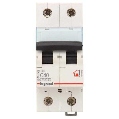 LEGRAND 404046 (604824) Автоматический выключатель, серия TX3, С40A, 2-полюсный