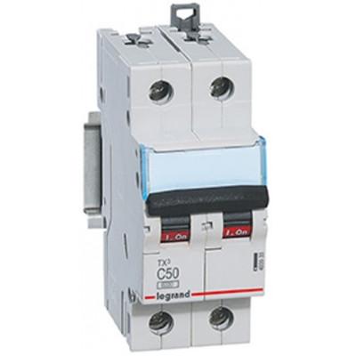 LEGRAND 404047 (604825) Автоматический выключатель, серия TX3, С50A, 2-полюсный