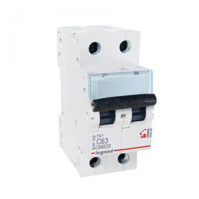 LEGRAND 404048 (604826) Автоматический выключатель, серия TX3, С63A, 2-полюсный
