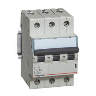 LEGRAND 404056 (604835) Автоматический выключатель, серия TX3, С16A, 3-полюсный
