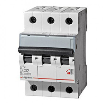 LEGRAND 404059 (604838) Автоматический выключатель, серия TX3, С32A, 3-полюсный