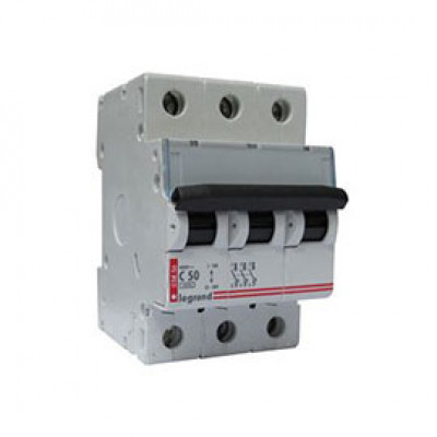 LEGRAND 404061 (604840) Автоматический выключатель, серия TX3, С50A, 3-полюсный